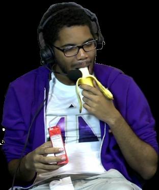Tagg Eating a Banana