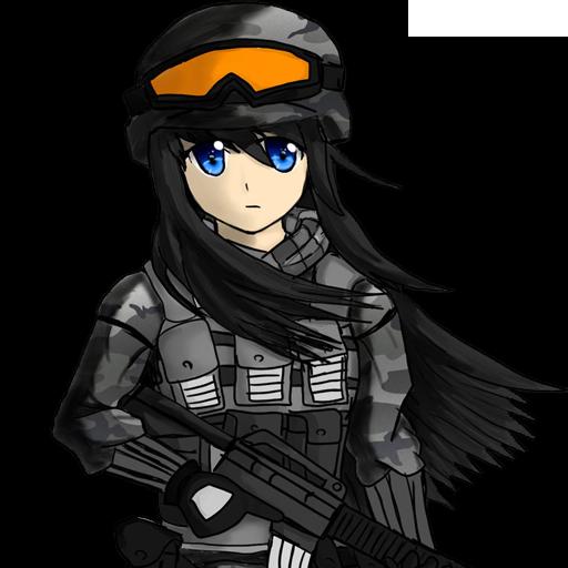 Female Anime Soldier By Hawkkun (Team Fortress 2 > Sprays