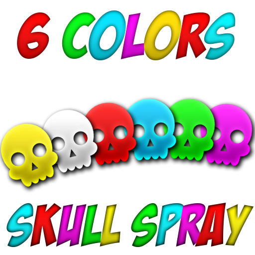 6 colors skull spray Spray preview
