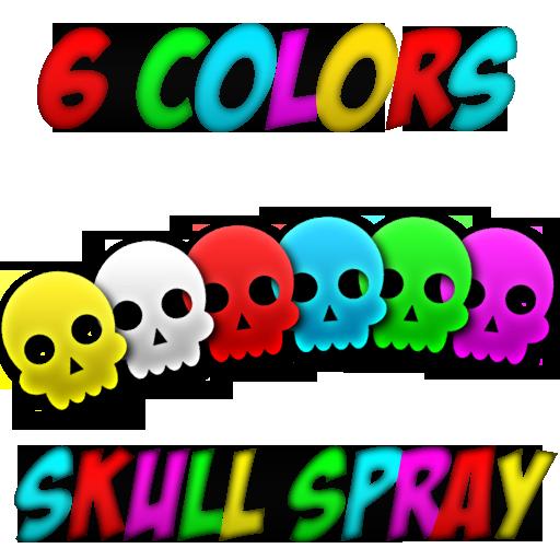 6 colors skull spray