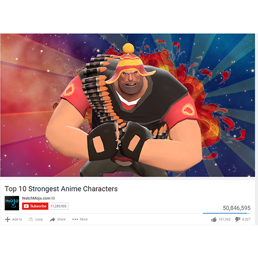 Top 1 Anime Characters : Top strongest anime characters heavy team fortress