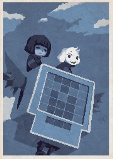 Cavestory + Undertale Poster