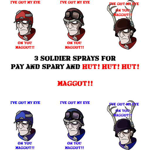 Soldier's Got a Eye On You! Spray preview