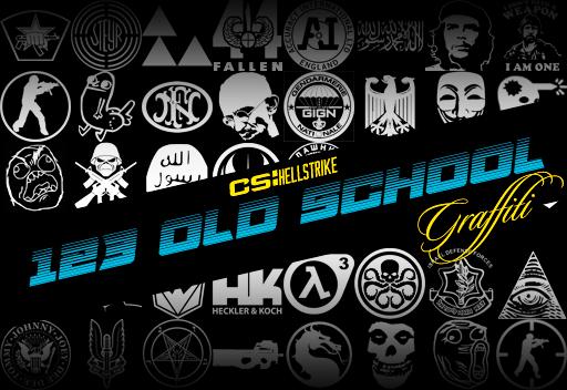 123 Old School Graffiti