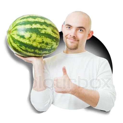 Positive Man Holding Watermelon preview