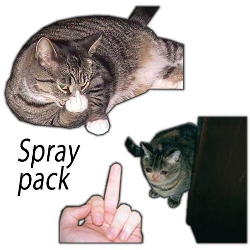 Cats Flipping Off Spraypack