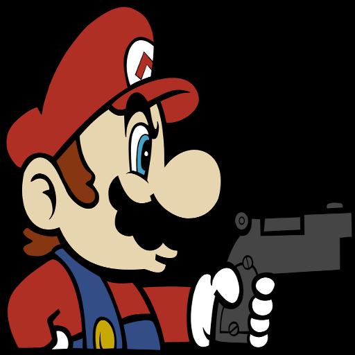 Mario Holding  A Gun