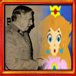 peach painting fading  into pinochet