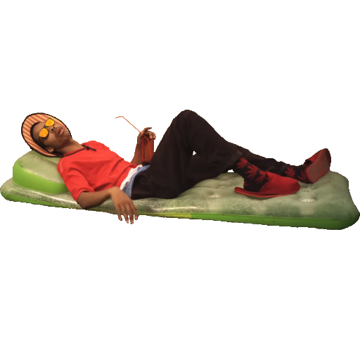 Earl Sweatshirt on a floating bed