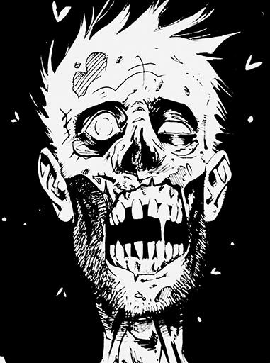 Zombie Face Line Drawing : Zombie face graffiti counter strike sprays