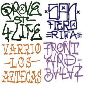 GTA SA Gang Sprays