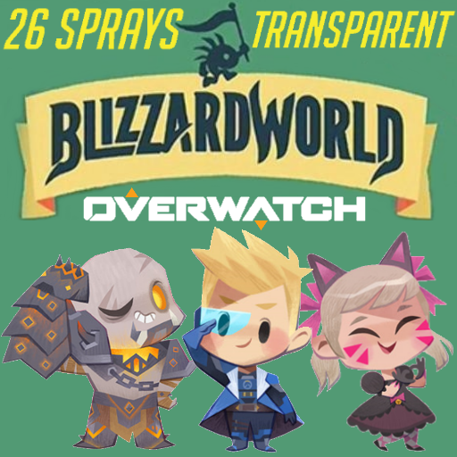 Overwatch Blizzard World Spray Pack