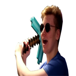 Pyrocynical with a diamond pickaxe
