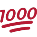 1000 points emoji