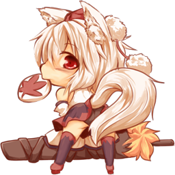Chibi Momiji Transparent Spray Spray screenshot #1