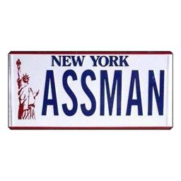 The Ass Man License Plate