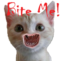 Bite me! Cat