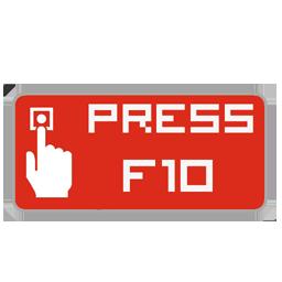 press f10