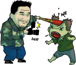 Frank and zombie
