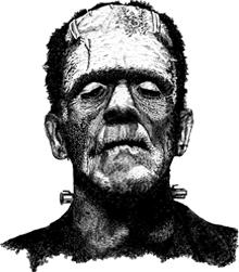 Gallery For gt Frankenstein Profile Stencil