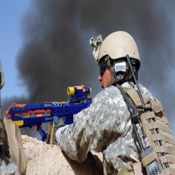 Marine with a nerf gun