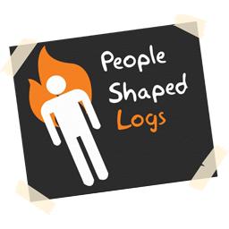 People Shaped Logs