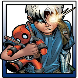 Cable holding Deadpool preview