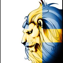 Swedish Lion Flag*Transparent*
