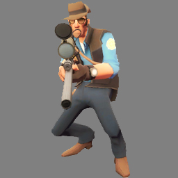 TF2_Blue_Sniper_Crouched Spray screenshot #1