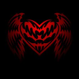 Tribal Heart w/ shadows by_GB