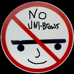 No Unibrows