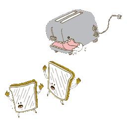 Evil toaster .