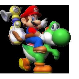 Mario on yoshi action