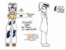 Josuke over Captain Falcon (or Marth. I'll explain