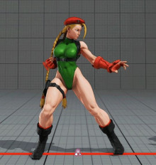 Cammy from Street Fighter over Sheik