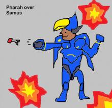 Pharah as Samus