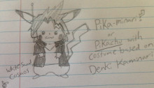 Kaminari Costume for Pikachu (Boku No Hero)