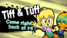 Tiff & Tuff (Fumu & Bun) over Lucas & Villager.