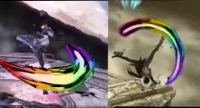 Bayonetta Rainbow trails