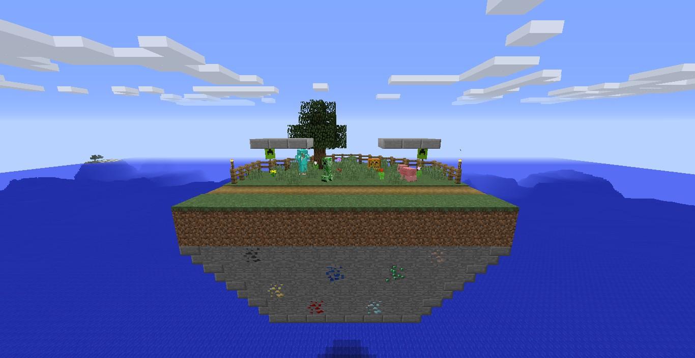 minecraft overworld stage concept  super smash bros   wii