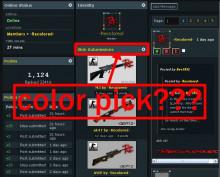 color picker for profile...