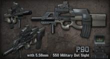 P90 Advanced Military Weapon for CZERO / CSCZ