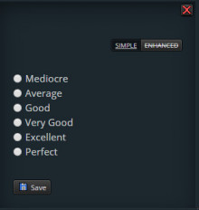"""Customizable """"phrases"""" for ratings Idea preview"""