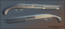 Sawed-off Remington 870