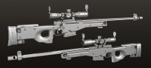 L96 Sniper Rifle - Baked
