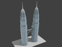 Petronas Tower Low Poly