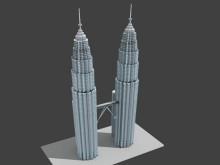 Petronas Tower Low Poly