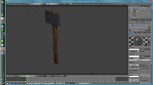 Modern axe V2 (Low poly)