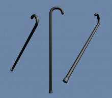 The cane from citizen Kane from the Simpsons