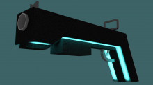 Simple futuristic shotgun